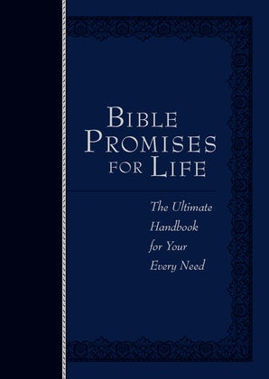 Bible Promises for Life Navy Faux Leather Edition